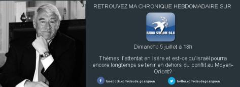Chronique Radio Shalom 50715