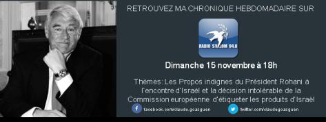 Radio chalom 15 novembre