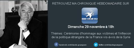 Radio chalom 29 novembre